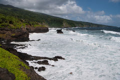 Wild and rocky beach at Oheo Gulch Royalty Free Stock Photo