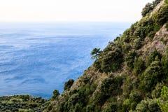 The Wild and Rocky Coast near Village of Vernazza Royalty Free Stock Photo