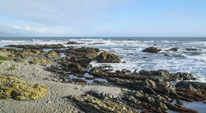 The wild and rocky coast of Shelter Cove - SHELTER COVE - CALIFORNIA - APRIL 17, 2017. The wild and rocky coast of Shelter Cove - SHELTER COVE - CALIFORNIA stock photo