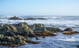 The wild and rocky coast of Shelter Cove - SHELTER COVE - CALIFORNIA - APRIL 17, 2017. The wild and rocky coast of Shelter Cove - SHELTER COVE - CALIFORNIA royalty free stock images