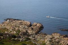 Wild rocky coast on western Sweden. Kullaberg - Wild rocky coast on western Sweden Royalty Free Stock Photo