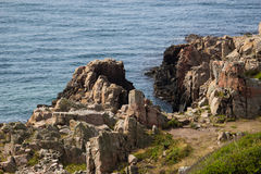 Wild rocky coast on western Sweden Royalty Free Stock Images