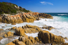 Wild rocky coastline Royalty Free Stock Images