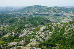 Wild rocky terrain Stock Images