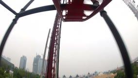 Wild roller coaster ride stock video