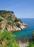 Wild romantic coast of costa brava Royalty Free Stock Images