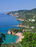 Wild romantic coast of costa brava Stock Photos
