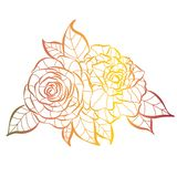Wild rose flowers bouquet design isolated object royalty free illustration