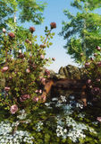 The Wild Rose Garden royalty free illustration
