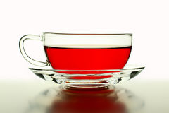 Wild rose tea in the glass cup Royalty Free Stock Image