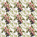 Wild Roses Floral Bouquet Pattern Stock Photography