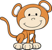 Wild Safari Monkey. Vector Illustration Stock Photos