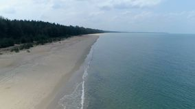 Wild sandy beach view from above. Aerial. Koh Kho Hhao Island. Thailand stock video