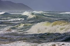 Wild sea. A close up of wild waves on south african coast Stock Photography