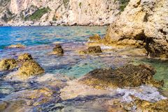 Wild sea coast Royalty Free Stock Image