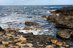 Wild sea near Giants Causeway and Cliffs, Northern Ireland Royalty Free Stock Images