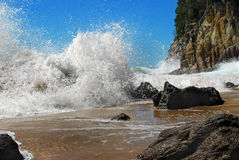 Wild Seas. This wave was captured on the North Island of New Zealand Royalty Free Stock Images