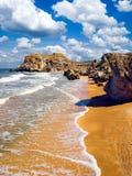Wild seashore. Stock Photos