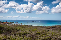 Wild seaside landscape of Aruba in the Caribbean Stock Image