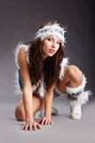 Wild woman Stock Images