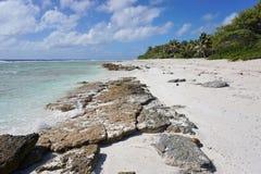 Wild shore atoll Rangiroa Tuamotu French Polynesia Stock Images