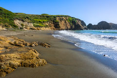 Wild shore view close to Rodeo Beach in California Royalty Free Stock Photography