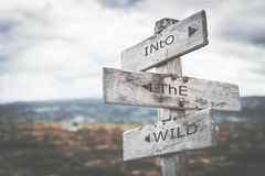 Into the wild signpost. royalty free illustration