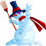 Wild SnowMan Royalty Free Stock Photo