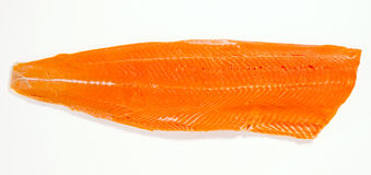 Wild Sockeye Salmon Fillet Stock Photo