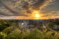 wild solnedgång Royaltyfri Fotografi