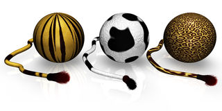 Wild Spheres. 3s isolated wild spheres with tail Royalty Free Stock Photo