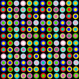Wild spots. Wild bright multi colored spots on black background Stock Images