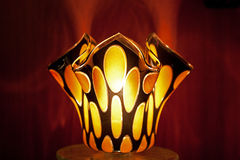 Wild Spotted Glass Lamp. A very cool wild spotted glass lamp Stock Photography