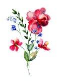 Wild spring flowers Stock Photo
