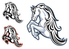 Wild stallion mascot Royalty Free Stock Photos