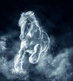 Wild stallion running on clouds Royalty Free Stock Image