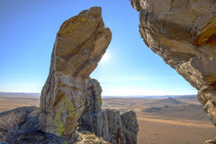 Wild steppe Trans-Baikal, Russia Royalty Free Stock Images