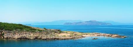 Wild stone beach. Royalty Free Stock Photo