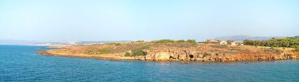 Wild stone beach. Royalty Free Stock Images