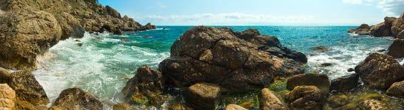 Wild Stone Black Sea coast Royalty Free Stock Photo