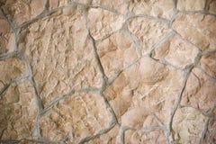 Wild stone wall Stock Photo