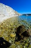 Wild strand Arkivfoton