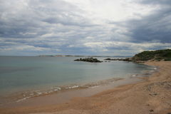 Wild strand. Corsica. Frankrijk. Stock Fotografie
