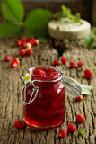 Wild strawberry jam Stock Images