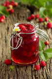 Wild strawberry jam Royalty Free Stock Image