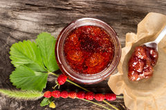 Wild strawberry jam Stock Image