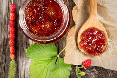 Wild strawberry jam Royalty Free Stock Photography