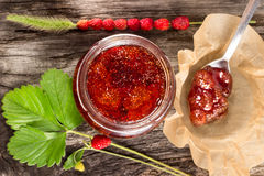 Wild strawberry jam Stock Image