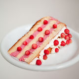 Wild strawberry layer-cake Stock Photography