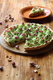 Wild Strawberry Pistachio Tart Royalty Free Stock Photos